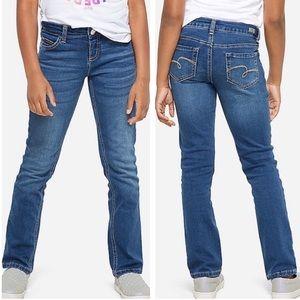 Justice   Medium Blue Straight Leg Jeans